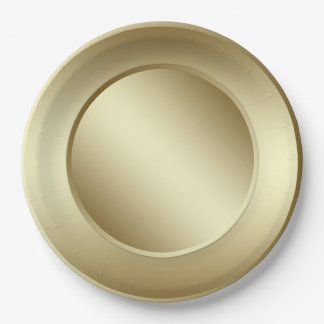 Gold Paper Plate