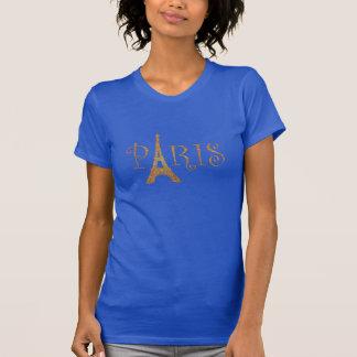 Gold Paris Eiffel Tower T-Shirt
