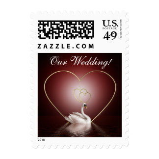 Gold Passion Heart n Swan 2 - 4g Stamp
