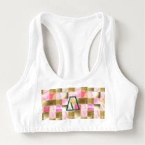 gold,pastels,water colors,squares,collage,modern,t sports bra