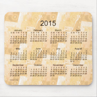 Gold Patchwork 2015 Calendar by Janz Mouse Pad