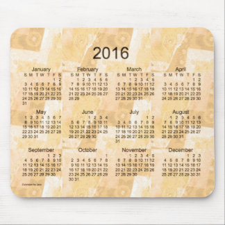 Gold Patchwork 2016 Calendar by Janz Mouse Pad