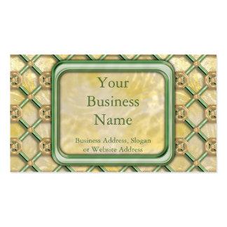 Gold Patina Lattice Business Card Templates
