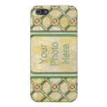 Gold Patina Lattice Cover For iPhone 5