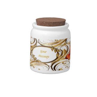 Gold Pattern 1 Candy Jar