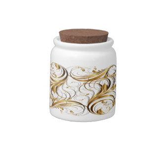 Gold Pattern 1A Candy Jar