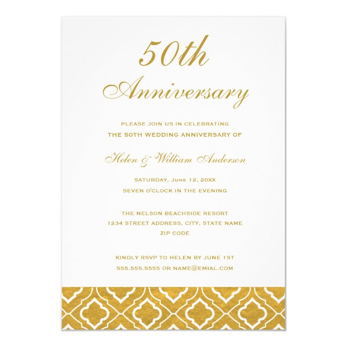50Th Wedding Anniversary Invitation Cards as adorable invitation template