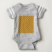 Gold Pattern Baby Bodysuit