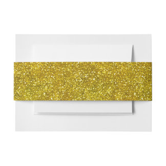 Gold Pattern Belly Band Invitation Belly Band