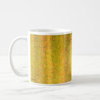 Gold Pattern Classic White Coffee Mug