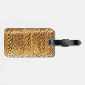Gold Pattern Luggage Tag