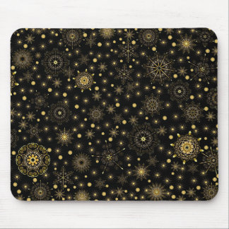 Gold Pattern Mouse Pad