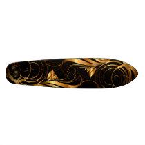 Gold Pattern Skateboard