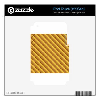 Gold Pattern Skin For iPod Touch 4G