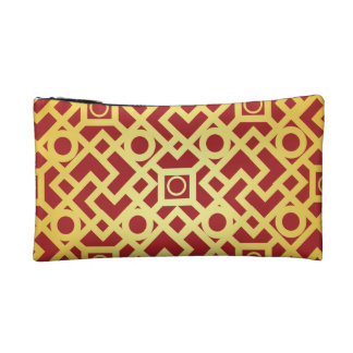 Gold Pattern Small Cosmetic Bag