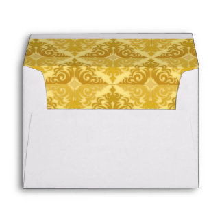 Gold Patterned and Pearls Envelopes