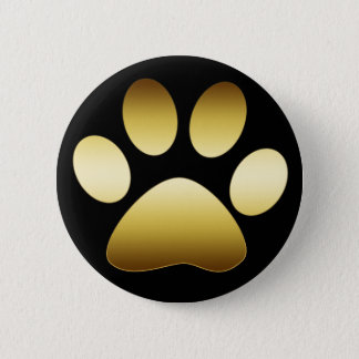 GOLD PAW PRINT BUTTON