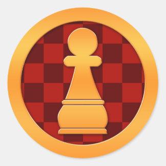 Gold Pawn Chess Piece Sticker