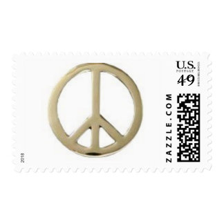 GOLD PEACE DESIGN POSTAGE STAMP
