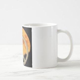 GOLD PEACE MOON COFFEE MUG
