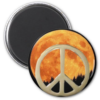 GOLD PEACE MOON MAGNET
