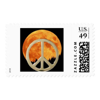 GOLD PEACE MOON POSTAGE