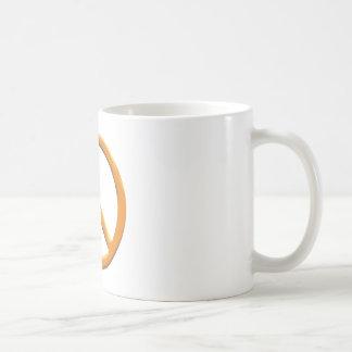 GOLD PEACE SIGN COFFEE MUG