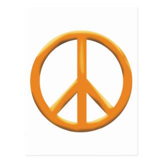 GOLD PEACE SIGN POSTCARD