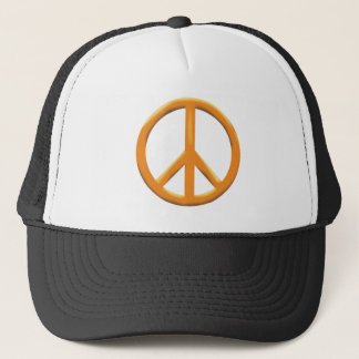 GOLD PEACE SIGN TRUCKER HAT