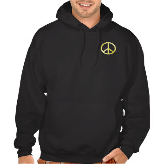"""Gold"" Peace Symbol Hooded Pullovers"