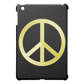 Gold Peace Symbol iPad Cover For The iPad Mini