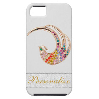 Gold Peacock & Diamond Jewels iPhone 5 iPhone 5 Cover