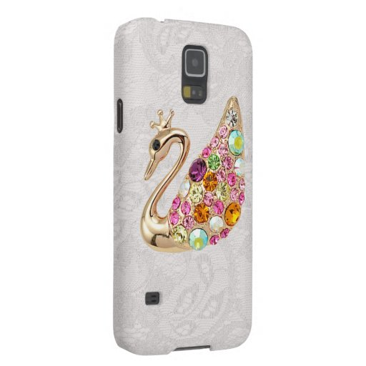 Gold Peacock & Jewels Paisley Lace Samsung Galaxy Galaxy S5 Cover
