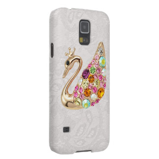 Gold Peacock & Jewels Paisley Lace Samsung Galaxy Galaxy S5 Covers