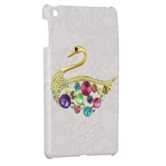 Gold Peacock Jewels Print Paisley Lace iPad Mini iPad Mini Case