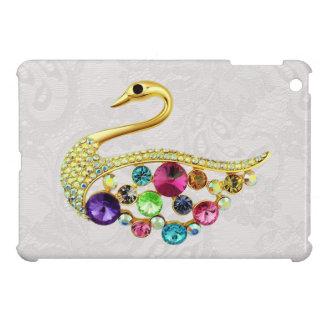 Gold Peacock Jewels Print Paisley Lace iPad Mini iPad Mini Cover