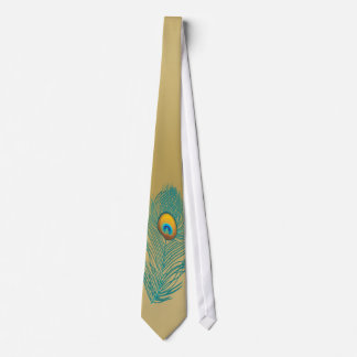 gold peacock plume necktie