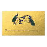 Gold Peacock Wedding Place Card Business Card
