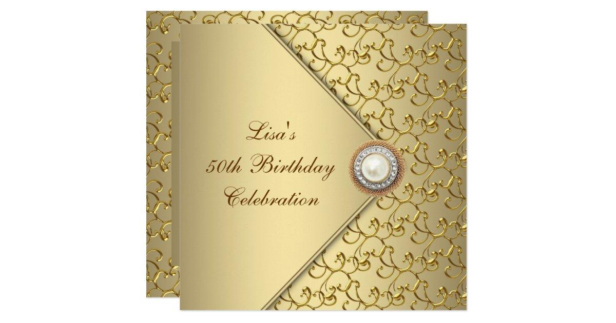 50th Birthday Invitations Announcements – Invitations 50th Birthday