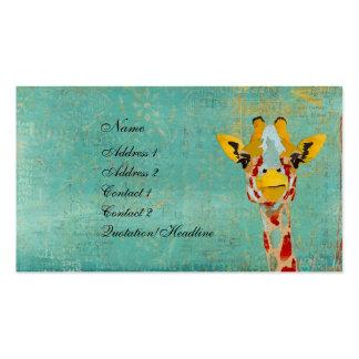Gold Peeking Giraffe Business Card/Tags Business Card
