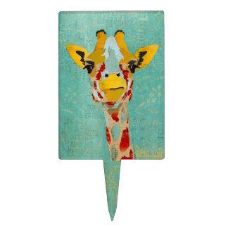 Gold Peeking Giraffe Cake Topper