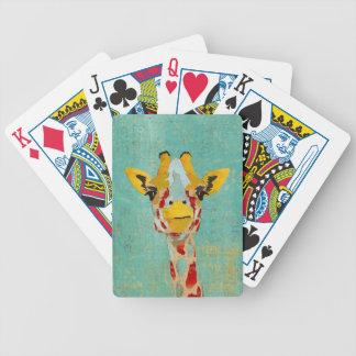 Gold Peeking Giraffe  Card Deck