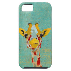 Gold Peeking  Giraffe  Iphone Case at Zazzle