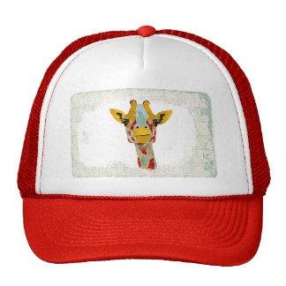 Gold Peeking Giraffe  Lid Trucker Hat