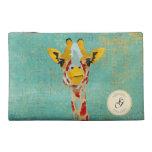 Gold Peeking Giraffe Travel Accessory Bag