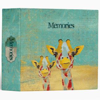 Gold Peeking Giraffes  Album Binder