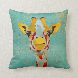 Gold Peeking Giraffes MoJo Pillows