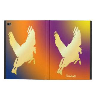 Gold Pegasus Flying Into Sunrise iPad Air 2 Case