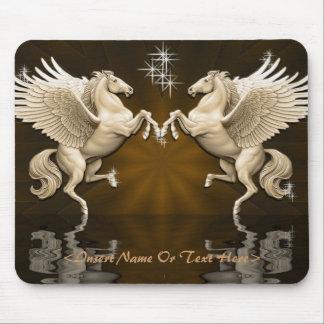 Gold Pegasus Reflections Mouse Pad