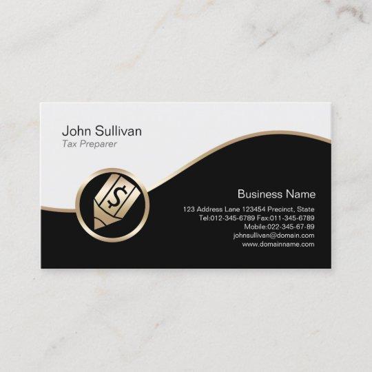 Gold pen dollar icon tax preparer business card zazzle gold pen dollar icon tax preparer business card colourmoves